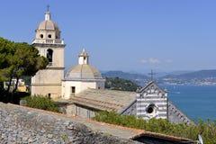 Kościół przy Porto Venere w Włochy Obrazy Royalty Free