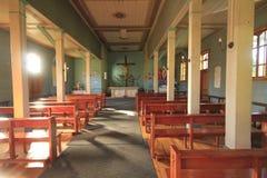 Kościół przy Santuario Naturaleza, Valdivia Ameryka Południowa obrazy stock