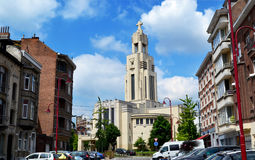 Kościół przy wysokością 100 Fotografia Royalty Free