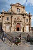 Kościół Purgatory w Ibla Sicily Obrazy Stock