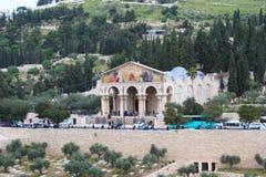Kościół Rzymsko-Katolicki Wszystkie narody kościół lub bazylika agonia, Jerozolima obrazy royalty free