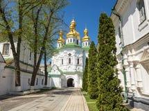 Kościół sławny Kijowski Pechersk Lavra monaster Zdjęcia Royalty Free