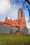 Kościół Saints Simon i Helena na niezależność kwadracie w Minsk Bia?oru? zdjęcia stock