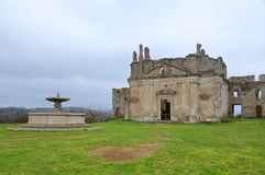 Kościół San Bonaventura, Monterano, Lazio, Włochy Obraz Stock