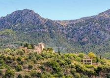 Kościół San Juan Bautista w Deia, Mallorca fotografia royalty free