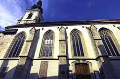 Kościół sankt Nikolaus krzyż przetwarzający Obrazy Stock