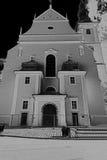 Kościół Sankt Severinus w Czarny i biały Obrazy Royalty Free