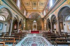 Kościół Sant ` Agata dei Goti w Rzym, Włochy Obraz Royalty Free