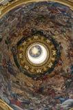 Kościół Sant'Agnese w Agone jest jeden odwiedzeni kościół w Rzym Zdjęcia Stock