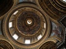 Kościół Sant ` Agnese w Agone jest jeden odwiedzeni kościół w Rzym należnym swój środkowa pozycja w sławnym piazza Na Obraz Royalty Free