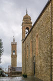 Kościół Sant Agostino, Montalcino, Włochy Zdjęcie Royalty Free