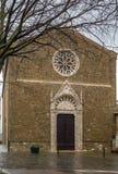 Kościół Sant Agostino, Montalcino, Włochy Obrazy Royalty Free