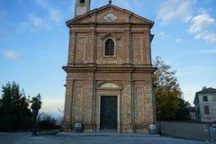 Kościół Sant ` Agostino w Monforte d ` albumach, Podgórski - Włochy Obrazy Royalty Free