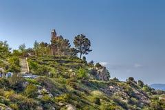 Kościół Santa Creu De Rodes, Catalonia, Hiszpania obrazy royalty free