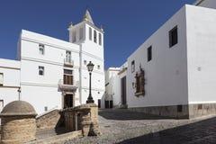 Kościół Santa Cruz - stara katedra Cadiz Hiszpania Fotografia Royalty Free