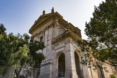 Kościół Santa Francesca Romana w Romańskim forum Zdjęcie Royalty Free