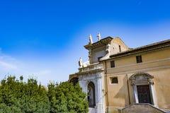 Kościół Santa Francesca Romana w Romańskim forum Zdjęcie Stock