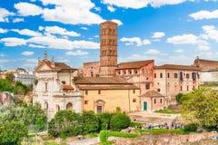 Kościół Santa Francesca Romana w Romańskim forum, Rzym, Włochy Zdjęcia Stock