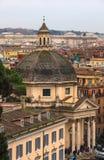 Kościół Santa Maria dei Miracoli, Rzym Obrazy Royalty Free