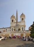 Kościół Santissima Trinita dei Monti w Rzym Włochy obraz royalty free