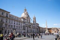 Kościół St Agnes w agoni na piazza Navona w Rzym Włochy Fotografia Royalty Free