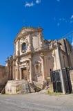 Kościół St. Agostino. Massafra. Puglia. Włochy. Zdjęcie Stock