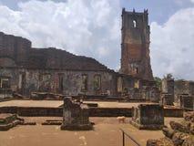 Kościół St Augustine, Goa zdjęcia royalty free