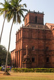 Kościół St Francis Assisi, Stary Goa obraz stock