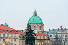 Kościół St. Francis Assisi w Praga Obraz Stock