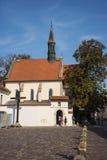 Kościół St Giles i Katyn w Krakow Polska krzyż Fotografia Royalty Free