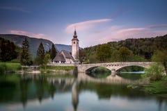 Kościół St John baptysta - Bohinj zdjęcie royalty free