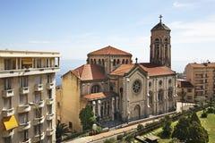 Kościół St Joseph w Kantonie De Beausoleil Francja obrazy royalty free