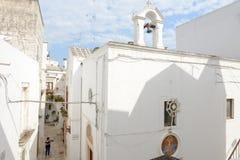 Kościół St Lucia przy Cisternino na Puglia Obrazy Royalty Free