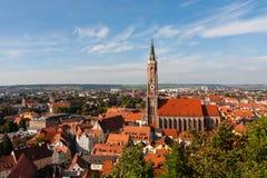 Kościół St Martin w Landshut Obrazy Royalty Free