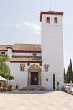 Kościół St Miguel Bajo w Albayzin, Granada - (Hiszpania) zdjęcie stock