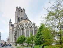 Kościół St Nicholas w Ghent, Belgia zdjęcie royalty free