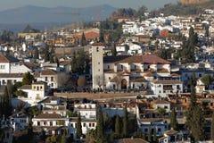 Kościół St Nicholas w Granada, Hiszpania Zdjęcia Royalty Free