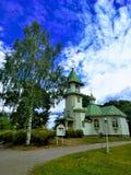 Kościół St Nicholas Wonderworker w Imatra obrazy royalty free
