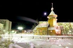 Kościół St Nicholas Zaozersk miasto fotografia stock