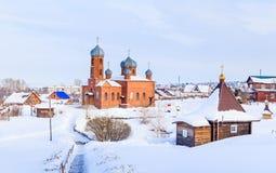 Kościół St Panteleimon skąpanie i uzdrowiciel Belokurikha obraz royalty free