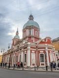 Kościół St Panteleimon uzdrowiciel, Świątobliwy Petersburg, Rosja zdjęcie royalty free