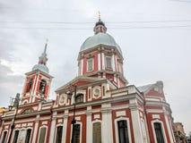 Kościół St Panteleimon uzdrowiciel, Świątobliwy Petersburg, Rosja obraz stock