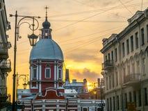 Kościół St Panteleimon uzdrowiciel, Świątobliwy Petersburg, Rosja zdjęcie stock
