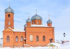 Kościół St Panteleimon uzdrowiciel, Belokurikha, Altai obraz royalty free