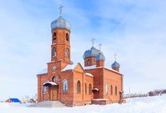 Kościół St Panteleimon uzdrowiciel, Belokurikha, Altai fotografia stock