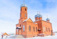 Kościół St Panteleimon uzdrowiciel, Belokurikha, Altai obrazy stock