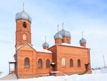 Kościół St Panteleimon uzdrowiciel, Belokurikha, Altai zdjęcie stock