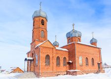 Kościół St Panteleimon uzdrowiciel, Belokurikha, Altai obrazy royalty free
