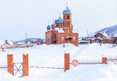 Kościół St Panteleimon uzdrowiciel, Belokurikha, Altai zdjęcia royalty free