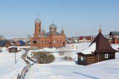 Kościół St Panteleimon uzdrowiciel, Belokurikha miasteczko, Altai obraz stock